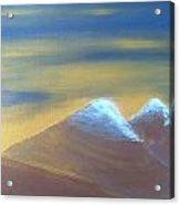 Bronze Mountains Acrylic Print