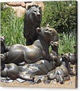 Bronze Pride Of Lions Acrylic Print