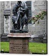 Bronze Statue Of Sir Benjamin Lee Guinness  Acrylic Print