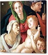 Bronzino's The Holy Family Acrylic Print