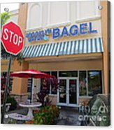 Brooklyn Bagel Restaurant In Delray Beach. Florida. Acrylic Print