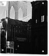 Brooklyn Bridge 1970 Acrylic Print