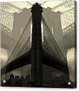 Brooklyn Bridge Abstract Acrylic Print