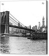 Brooklyn Bridge And Ny Skyline Acrylic Print