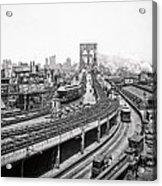 Brooklyn Bridge And Terminal - 1903 Acrylic Print