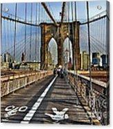 Brooklyn Bridge At Dusk Acrylic Print