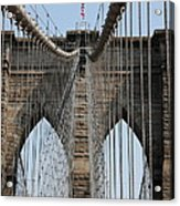 Brooklyn Bridge Cables Nyc Acrylic Print
