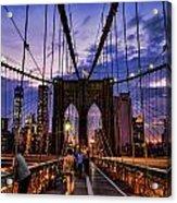 Brooklyn Bridge Evening Acrylic Print
