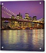 Brooklyn Bridge Acrylic Print by Inge Johnsson