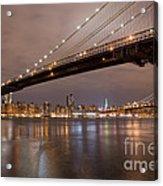 Brooklyn Bridge Lights Acrylic Print