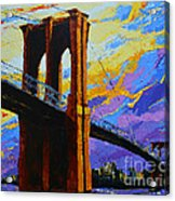 Brooklyn Bridge New York Landmark Acrylic Print