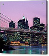 Brooklyn Bridge New York Ny Usa Acrylic Print