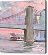 Brooklyn Bridge Sunset 2013 Acrylic Print