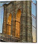 Brooklyn Bridge Tower Acrylic Print