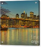 Brooklyn Bridge Twilight Acrylic Print