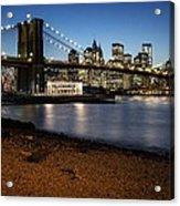 Brooklyn Bridge View Acrylic Print