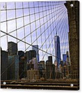 Brooklyn Bridge View Acrylic Print
