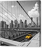 Brooklyn Bridge View Nyc Acrylic Print