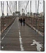 Brooklyn Bridge Walkway Acrylic Print