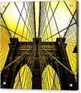 Brooklyn Bridge Yellow Acrylic Print