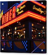 Brooklyn Diner Usa Acrylic Print