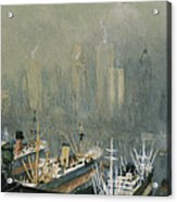Brooklyn Harbor Circa 1921  Acrylic Print