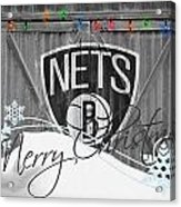 Brooklyn Nets Acrylic Print by Joe Hamilton