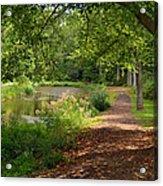 Brookside Garden Walk Acrylic Print