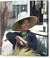 Broom Seller  Acrylic Print