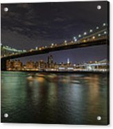 Broooklyn Bridhe At Night Acrylic Print