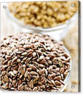Brown And Golden Flax Seed Acrylic Print