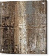 Slender - Grey And Brown Abstract Art Painting Acrylic Print