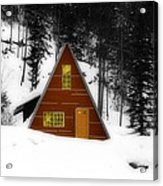 Brown Cabin  Acrylic Print