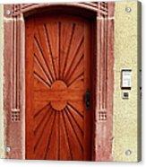 Brown Door Exterior Entrance Acrylic Print
