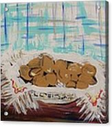 Brown Eggs In A Basket Acrylic Print