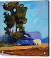 Brown Farm Landscape Acrylic Print