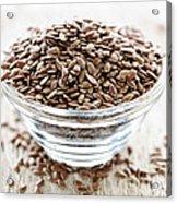 Brown Flax Seed Acrylic Print