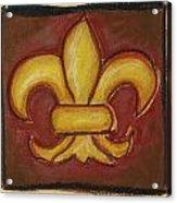 Brown Fleur De Lis Acrylic Print