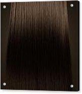 Brown Hair Perfect Straight Acrylic Print