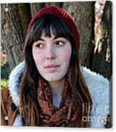 Brown Haired And Freckle Faced Natural Beauty Model  Xvii  Acrylic Print