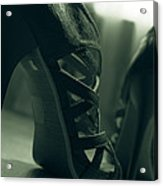 Brown Leather High Heel Shoes Acrylic Print