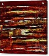 Brown Red And Golds Abstract Acrylic Print