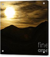 Brown Sky And Ridge Acrylic Print