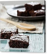 Brownies With A Wood Spoon Kitchen Art Acrylic Print