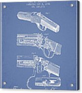 Browning Rifle Patent Drawing From 1921 - Light Blue Acrylic Print