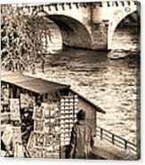 Browsing The Outdoor Bookseller  Acrylic Print