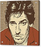 Bruce Springsteen Pop Art Acrylic Print