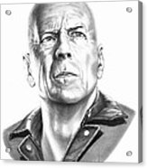 Bruce Willis Acrylic Print
