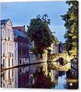 Brudges Canal Bridge Acrylic Print