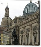 Bruehlsche Terrace - Church Of Our Lady - Dresden - Germany Acrylic Print